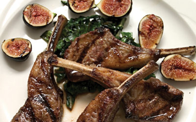 Lamb Chops With Fresh Herbs & Roasted Figs