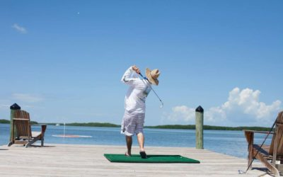 My Nose Almost Blew Off! Conch Scramble On-the-Water Golf Tournament