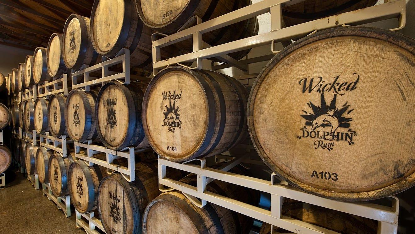 Rum barrel room